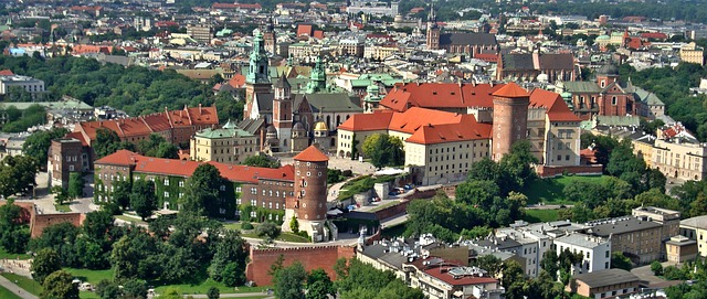 podziały nieruchomości Kraków widok na miasto