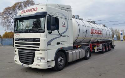 przewóz chemii spożywczej - samochody firmy Stando