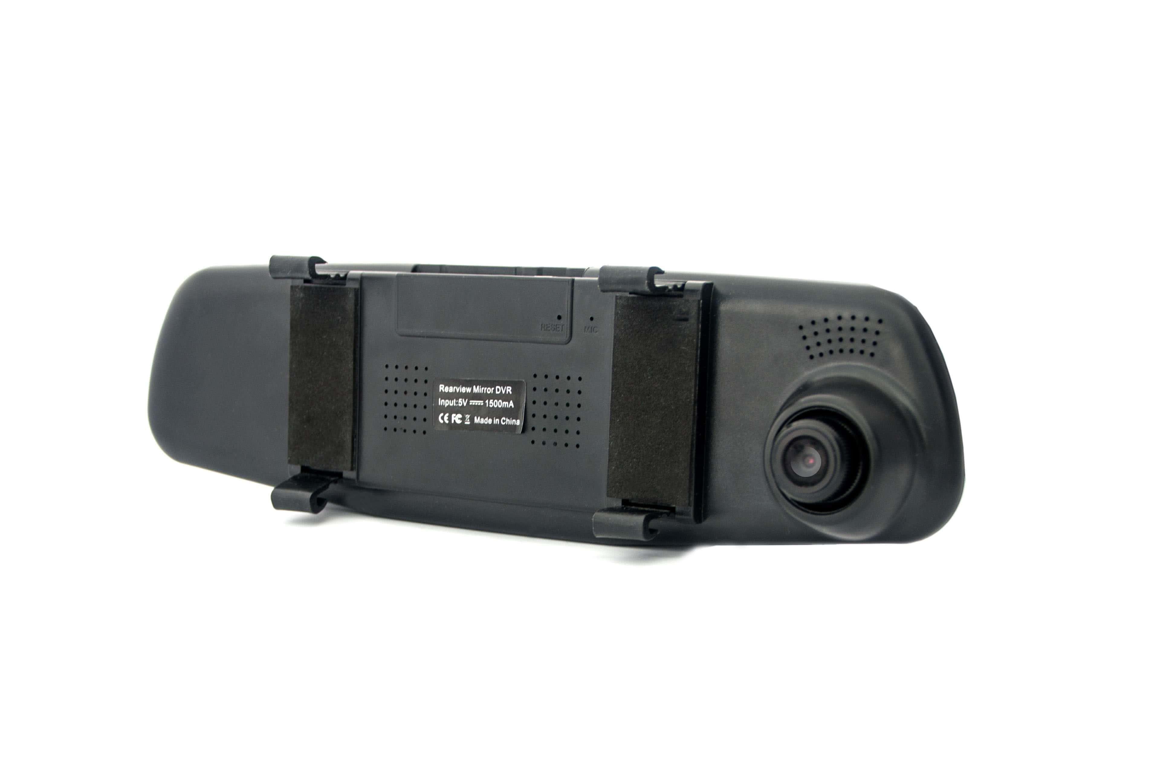kamera samochodowa w lusterku widok od tyłu
