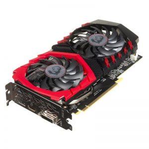 MSI GeForce Gaming X GTX 1050 wyposażona jest w dwa wentylatory.