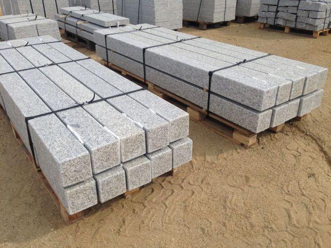 palisady granitowe - szare