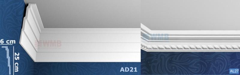 Nowoczesne stylizacje sufitów - listwy sufitowe