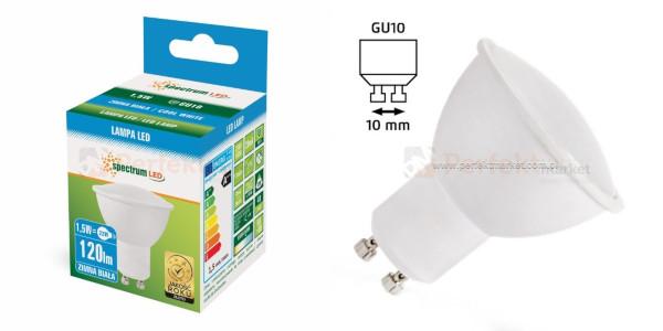 Żarówka led gu10 1.5w ciepłe oświetlenie