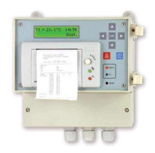 rejestratory temperatury - z drukarką